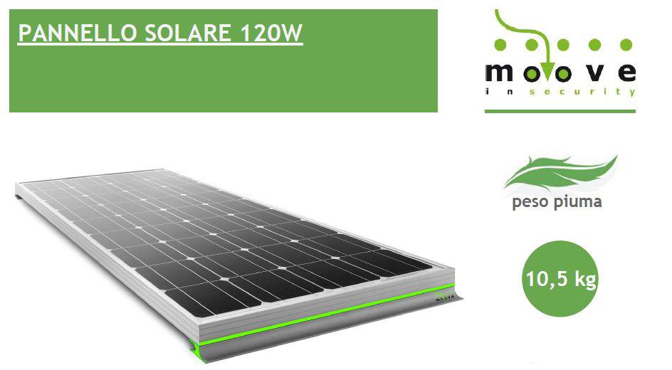 Kit Pannello Solare Moove 120w : Compreso kit di montaggio